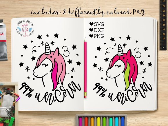 99 Percent Unicorn Cut File