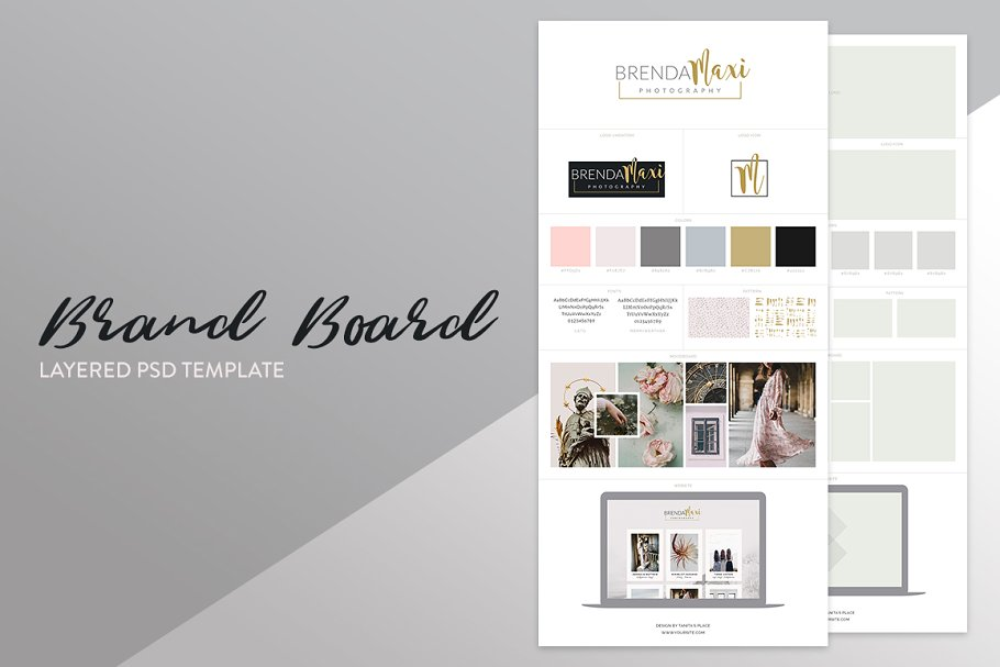 Brand Board Template: Brenda ~ Other Presentation Software