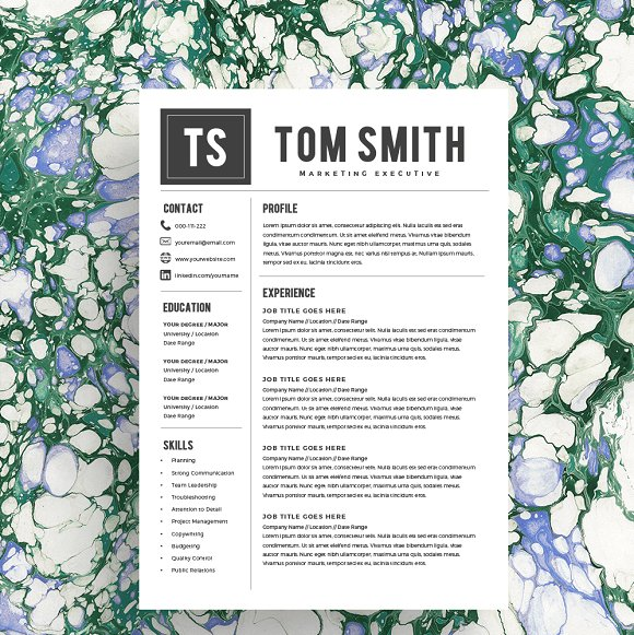 Resume Template CV Cover Letter