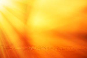 Horizontal dof surface with light leak background