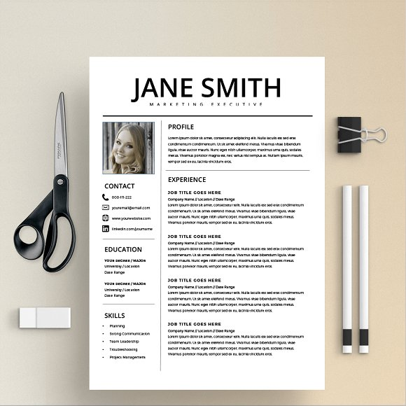 Resume Template/CV + Cover Letter