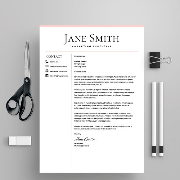 Resume Template/CV + Cover Letter in Letter Templates - product preview 2
