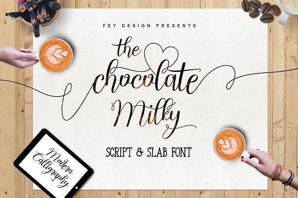 Chocolate Milky (Script And Slab)