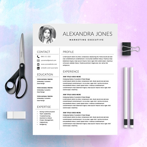 Resume Template CV With Photo