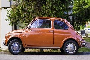 Small vintage italian car Fiat Abart
