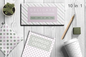 Delicate seamless vector patterns