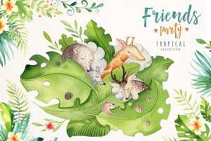 Friends party.Tropical collection II