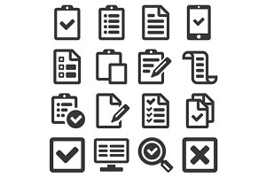 Checklist Survey Icon Set