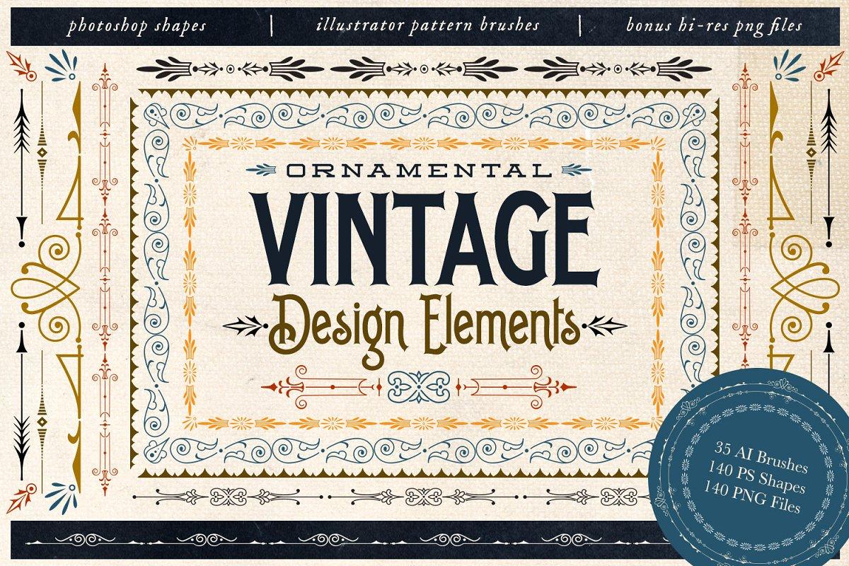 Ornamental Vintage Design Elements ~ Illustrator Add-Ons