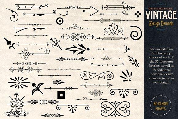 Ornamental Vintage Design Elements