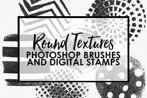 Round Textures Photoshop Brushes
