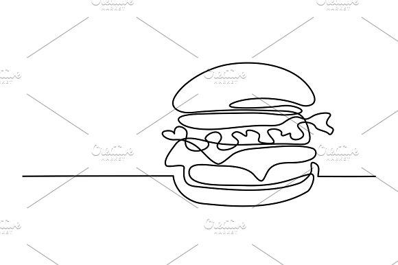 Big Hamburger With French Fries