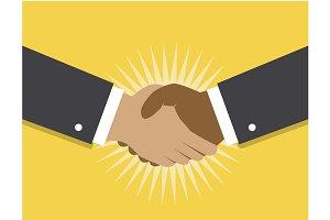 Handshake and cooperation