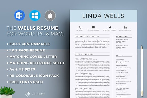 Resume For Mechanical Engineer Word Resumecv Template  Resume Templates  Creative Market Free Easy Resume Templates Excel with Resume Summary Tips Excel  Cna Resume Samples Word
