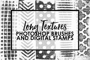 Long Textures Photoshop Brushes