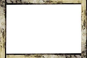 White Frame with Grunge Borders