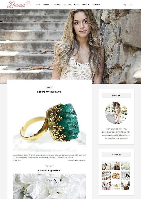 Luana Responsive Wordpress Theme