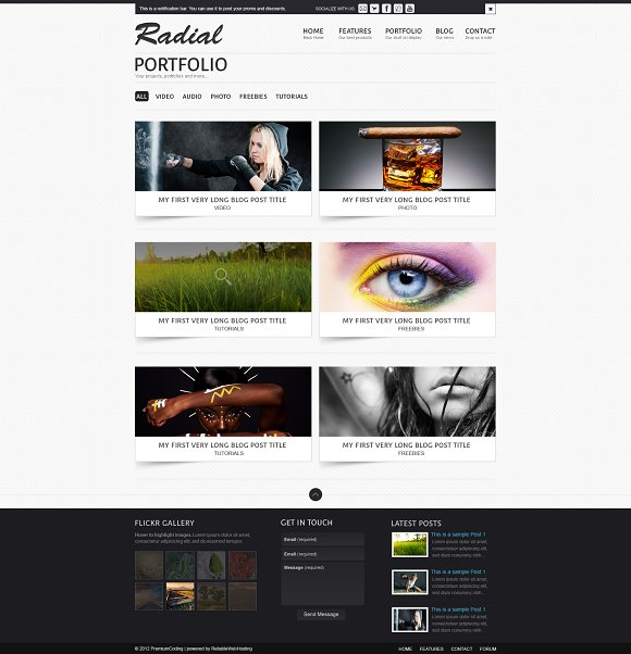 Radial - A business Template (PSD) ~ Website Templates ~ Creative Market