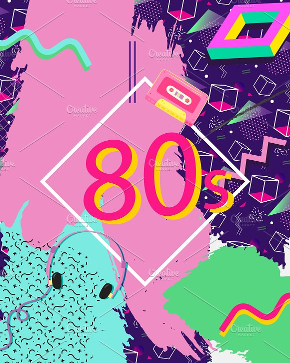 Colourful Eighties Background