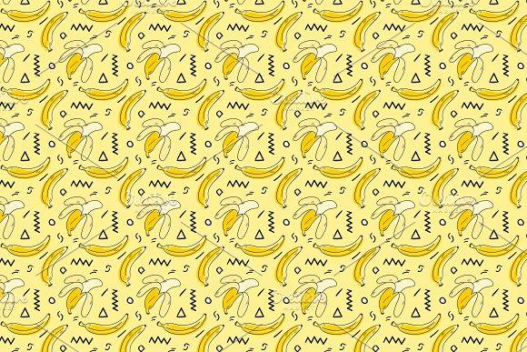 Hand Drawn Banana Pattern