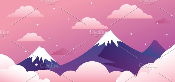 Cute Landscape With Mountains