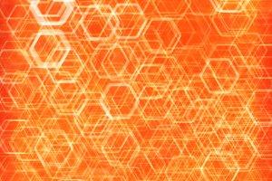 Orange hexode cells abstract background
