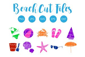 Beach Clipart and SVG Cut Files