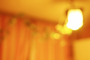 Horizontal vivid orange light lamp bokeh background
