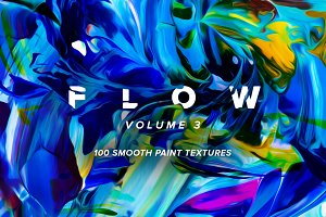 Flow, Vol. 3:  100 fluid paintings
