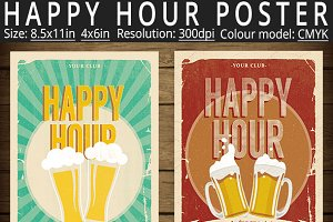 Happy Hour Poster Flyer