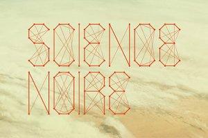 Science Noire - font