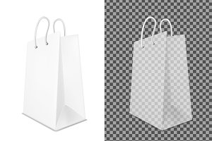 Transparent shopping paper bag