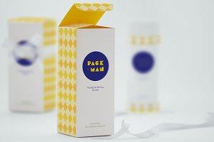 Tall Gift Box Mockup 03