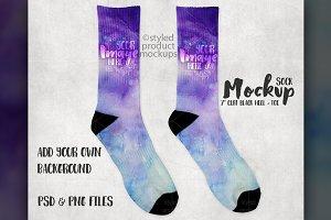 7 inch cuff sock mockup