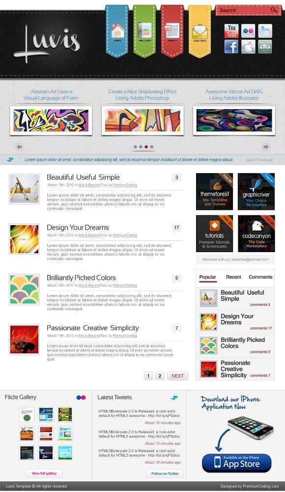 one page website template psd website templates creative market