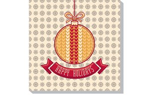 Happy holidays. Greeting card.