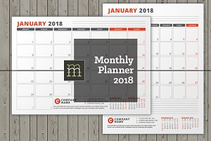 Monthly Planner 2018 (MP038-18)