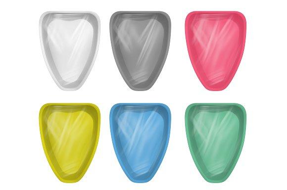 Multicolor Empty Plastic Container
