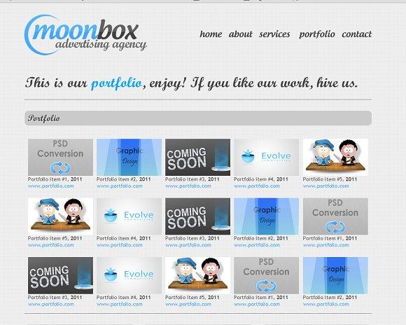 Moonbox Website Html Template Website Templates Creative Market