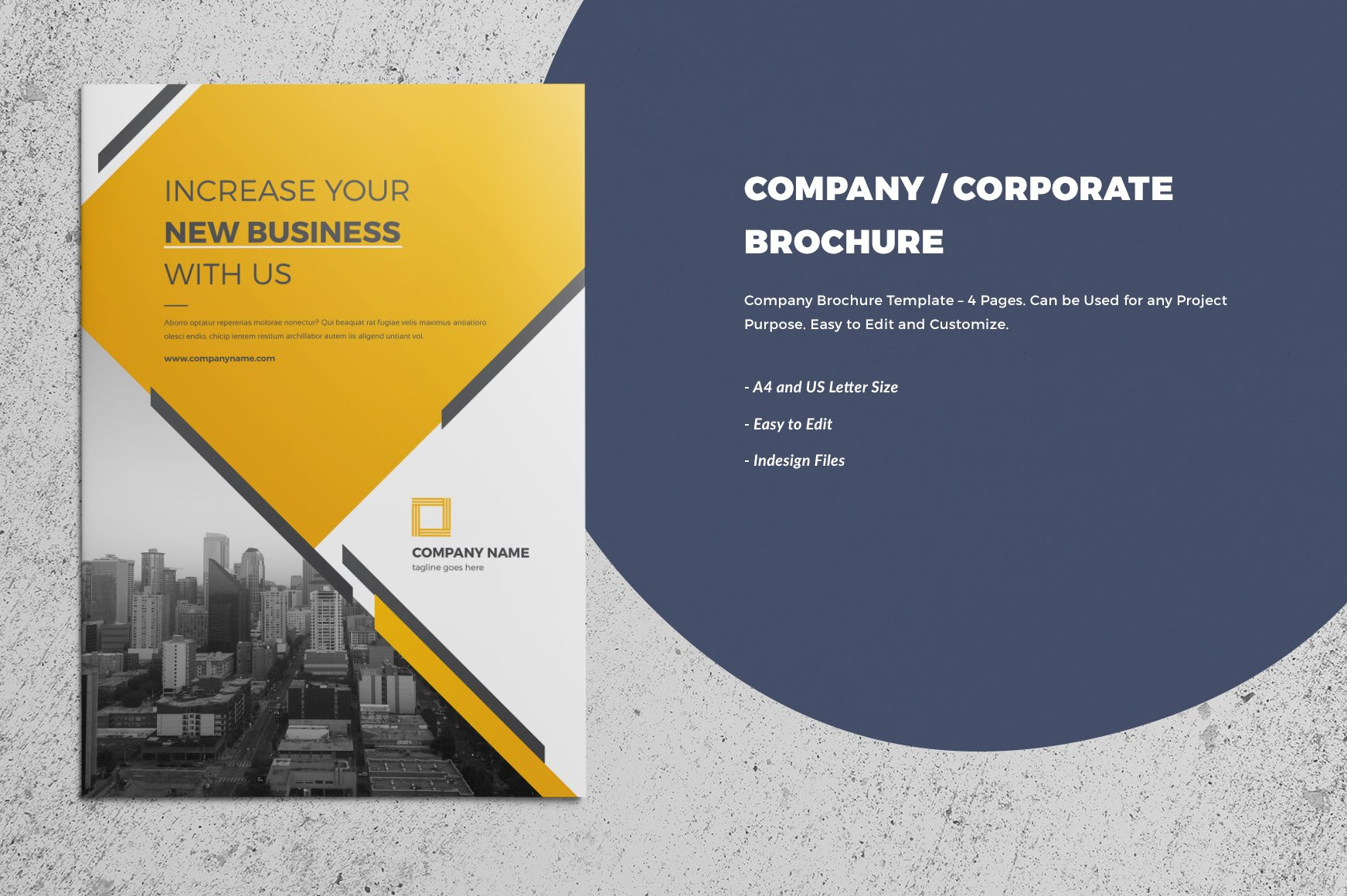 corporate company brochure 4 page brochure templates creative