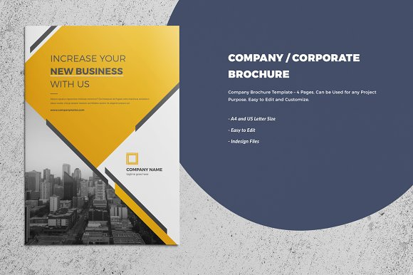 Corporate Company Brochure 4 Page