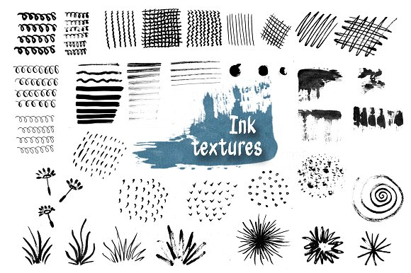Ink Abstract Textures