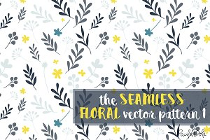 The Seamless Floral Vector Pattern 1