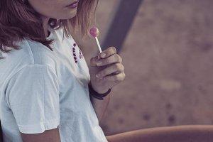Vintage Summer Girl