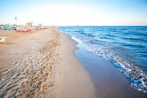 Sea European beach in Italy, Forte dei Marmi
