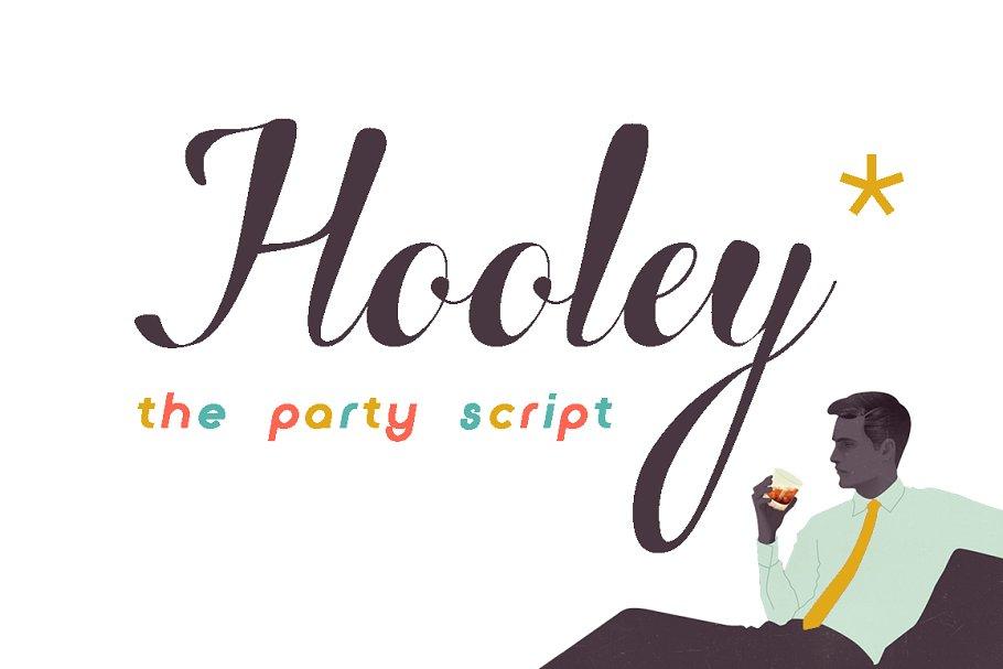 Hooley Script Fonts Creative Market