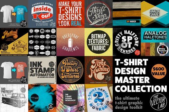 a7358ead5b28 T-Shirt Design Master Collection ~ Graphics ~ Creative Market