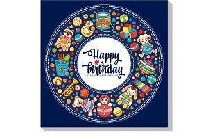 Happy Birthday. Invitation.