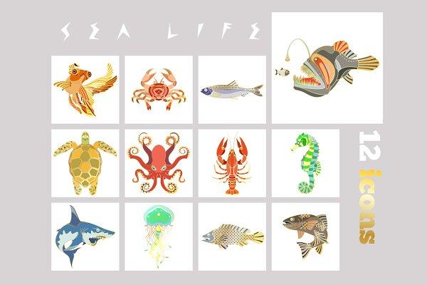 12 Fish icons