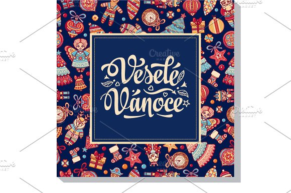 Vesele Vanoce Christmas Card Czech